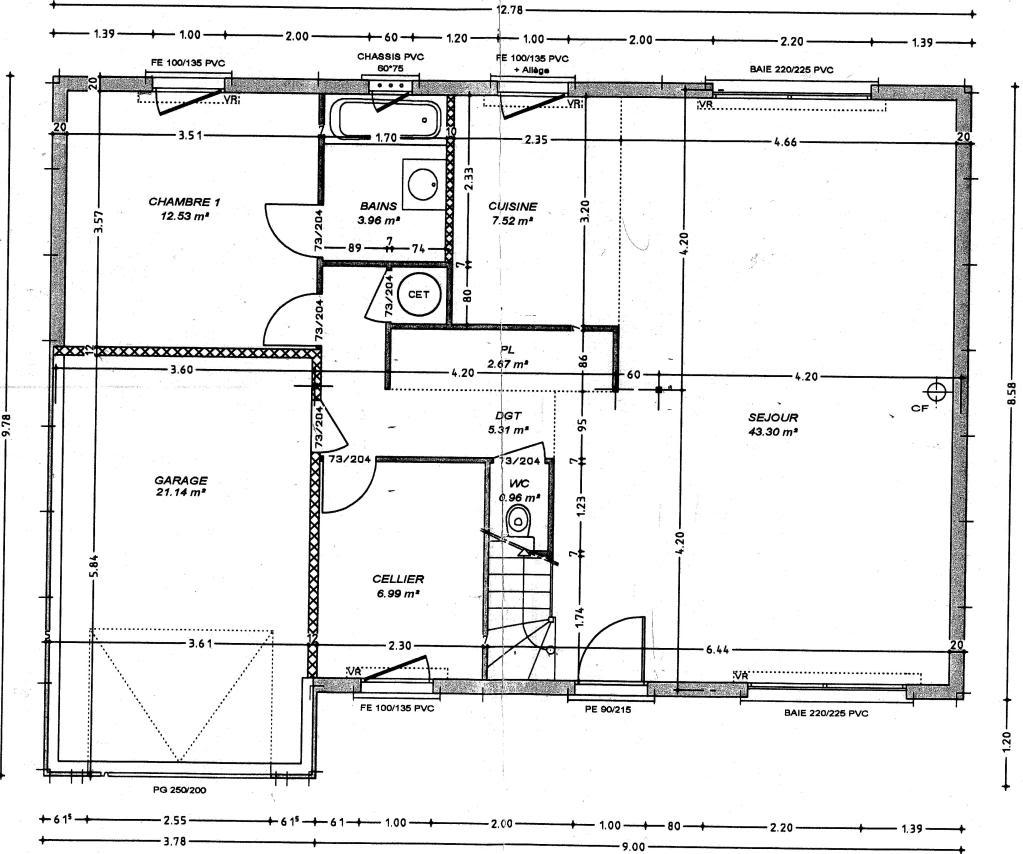 Plan permis de construire à la Réunion