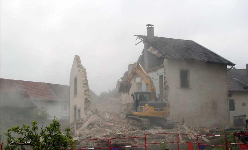 Démolition de construction à la Réunion